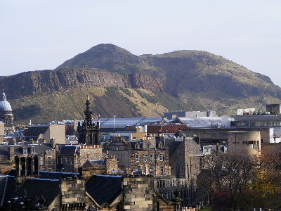 Arthur's Seat seen from Castle Esplanade