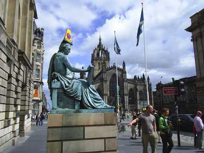 David Hume statue, High Street, Edinburgh