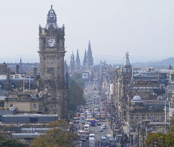 Bustling Princes Street, Edinburgh