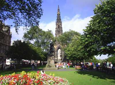 Scott Monument in Princes Street Gardens, Edinburgh