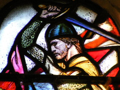 William Wallace stained glass window at Edinburgh Castle