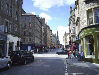 View up Royal Mile from Canongate
