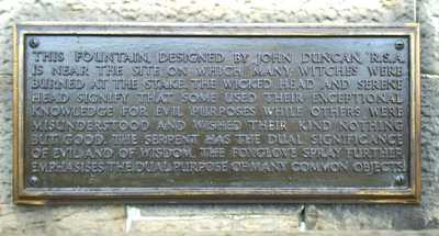 Witches Well plaque