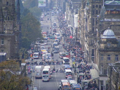 Shoppers on Princes Street