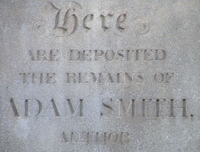 Inscription at Adam Smith's grave, the Canongate, Edinburgh