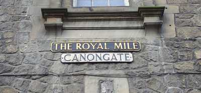 The Canongate street sign