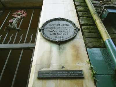 Panmure Close, leading to Panmure House, former home of the great economist, Adam Smith, off the Canongate, Edinburgh